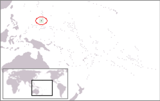 Index of Guam-related articles - The location of Guam in the western North Pacific Ocean