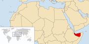 Χάρτης της Σομαλιλάνδης.