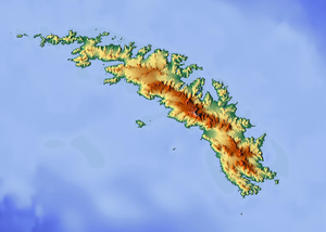 Bristol Island is located in South Georgia