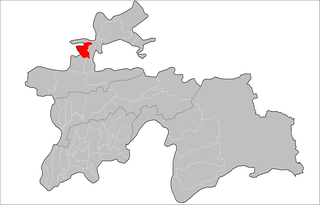 Location of Istaravshan District in Tajikistan