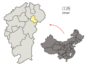 Yingtan - Image: Location of Yingtan Prefecture within Jiangxi (China)