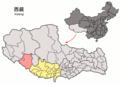 Location of Zhongba within Xizang (China).png