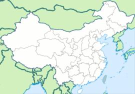 Ürümqi is located in Kina