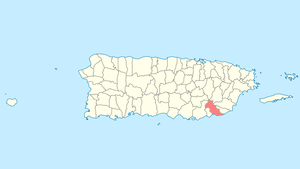Location of Patillas in Puerto Rico