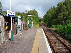 Lochluichart railway station - Image: Lochluichart railway station in 2009