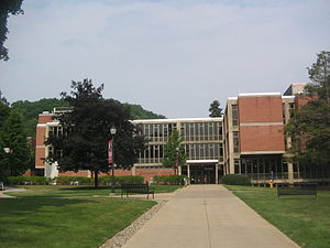 Lock Haven University of Pennsylvania - The main entrance to Stevenson Library