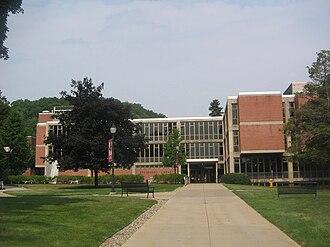 Lock Haven University of Pennsylvania - The main entrance to Stevenson Library