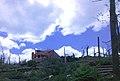 Log cabin damaged by 2011 tornado; Brimfield, MA.jpg