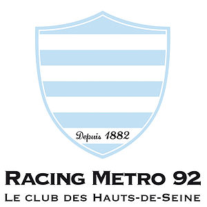 "Racing 92 - Former logo, when the team was known as ""Racing Métro 92""."