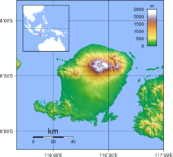 Topography of the island