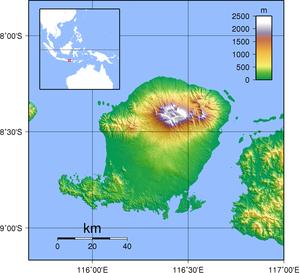Topographische Karte Lombok