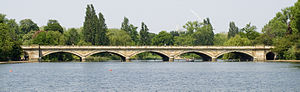 Kensington Gardens - Image: London Serpentine Bridge from East