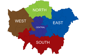 Map Of North East London.List Of Sub Regions Used In The London Plan Wikipedia
