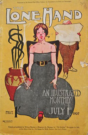 The Lone Hand (magazine) - Cover of the July 1907 edition