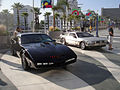 Long Beach Comic Expo 2012 - K.I.T.T. from Knight Rider and the Back to the Future Delorean (7186643206).jpg