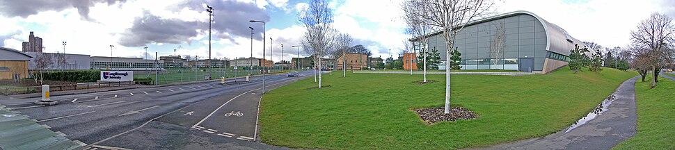 Loughborough University Epinal Way Entrance panorama
