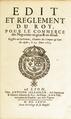 Louis XIV - Edit et reglement pour le commerce des negocians en gros & en détail, 23 mars 1673.png