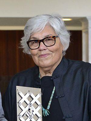 Lourdes Portillo - Lourdes Portillo receiving an award in Spain in 2015.
