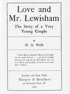 <i>Love and Mr Lewisham</i> novel by H. G. Wells