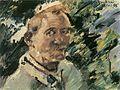 Lovis Corinth Kleines Selbstporträt vor dem Walchensee 1921.jpg