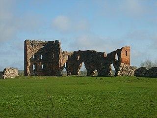 castle ruin in Latvia