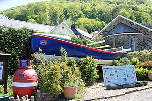 Lynmouth Lifeboat Station - The Docea Chapman is displayed at Lynmouth as a reminder of the Louisa and other Lynmouth lifeboats
