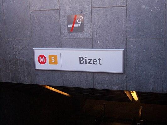 Bizet metro station