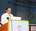 M. Venkaiah Naidu addressing at the 9th foundation day of the Foundation for Restoration of National Values (FRNV), in New Delhi.jpg