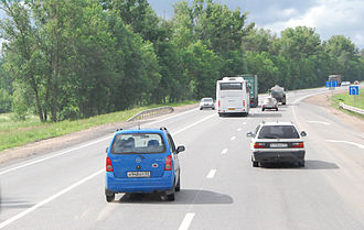 M10 highway (Russia) - The M10 near Novgorod