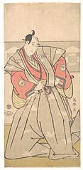 The kabuki actor Sawamura Sōjūrō III as Soga Jūrō Sukenari