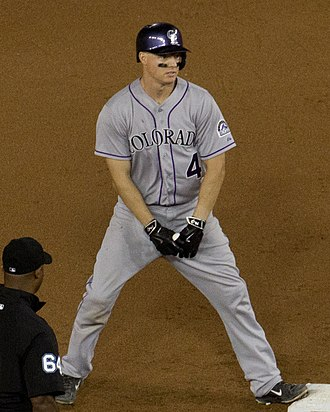 Nick Hundley - Hundley playing for the Colorado Rockies in 2015