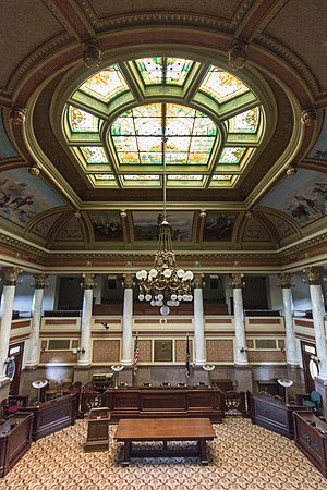 Montana Supreme Court - The Old Supreme Court in the Montana State Capitol in Helena