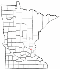 Location in Anoka County and the state of Minnesota.