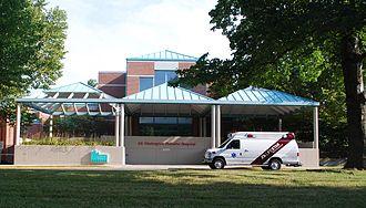 Mt. Washington Pediatric Hospital - Front entrance at Mt. Washington Pediatric Hospital