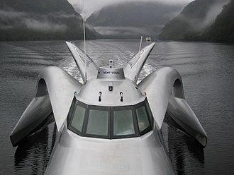 Pete Bethune - MY Earthrace in Dusky Sound, Fiordland, New Zealand