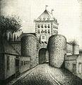 Maastricht, Sint-Pieterspoort met provoost (1806).jpg