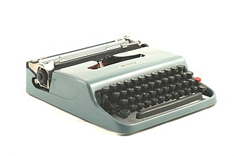 Italian economic miracle - A Lettera 22 typewriter by Olivetti.