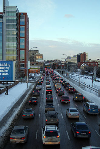 Macleod Trail - Macleod Trail in downtown Calgary, 2011