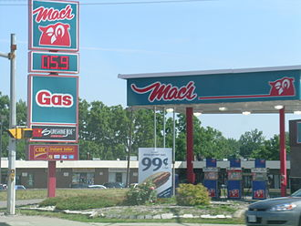 Mac's Convenience Stores - Woodstock, Ontario Mac's with gas station (gas has since been removed at this location)