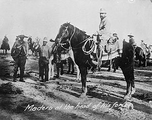 Battle of Ciudad Juárez (1911) - Madero at the head of his forces in 1910.