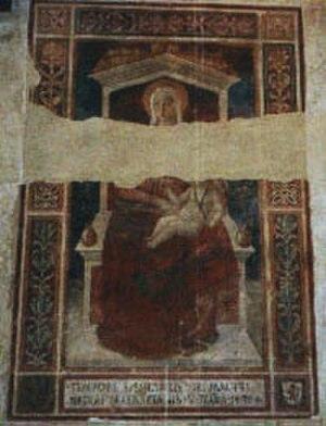 Pier Francesco Fiorentino - Madonna col bambino in trono (1480), Palazzo Vicarile de Certaldo