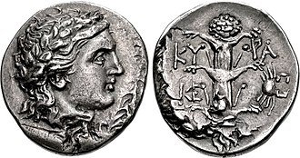 Silphium - A coin of Magas of Cyrene circa 300 - 282/75 BC. Rev: silphium and small crab symbols.