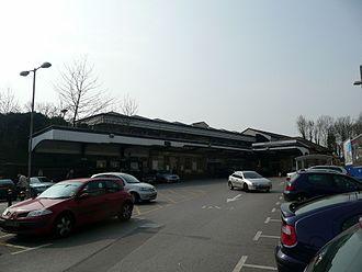 Maidenhead railway station - Maidenhead railway station entrance and car park