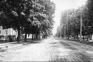 Colon, Michigan - Main St., North, Colon, MI