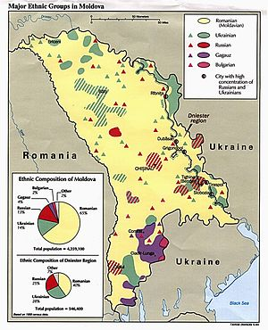 Moldovans - Image: Major ethnics groups in Moldova 1989
