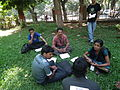 Malayalam wikipedians in wci2011 9340.JPG