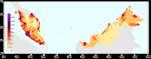 Malaysia population density 2010b