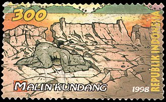 Malin Kundang - The legend of Malin Kundang, as depicted on a 1998 Indonesian stamp
