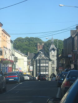 Main street of Mallow, featuring the clocktower and the junction of Spa and Bridge streets