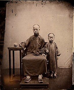 Mandarin and son. John Thomson. China, 1869. The Wellcome Collection, London